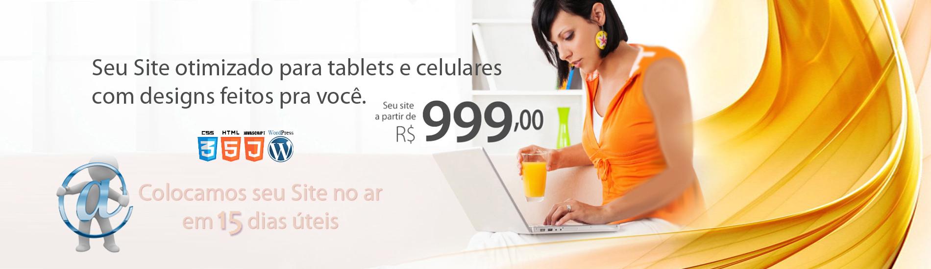 SEU SITE A PARTIR DE R$ 999,00